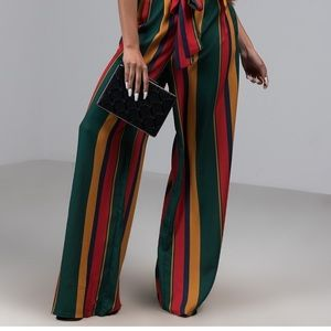 NWOT AKIRA STRIPED WIDE LEG PANTS